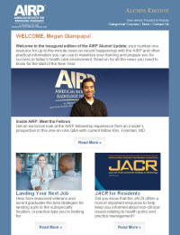 AIRP Alumni Update Newsletter